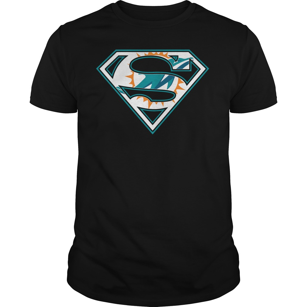 Miami Dolphins Superman Logo T-Shirt - Buy T-Shirts  0f7c075af