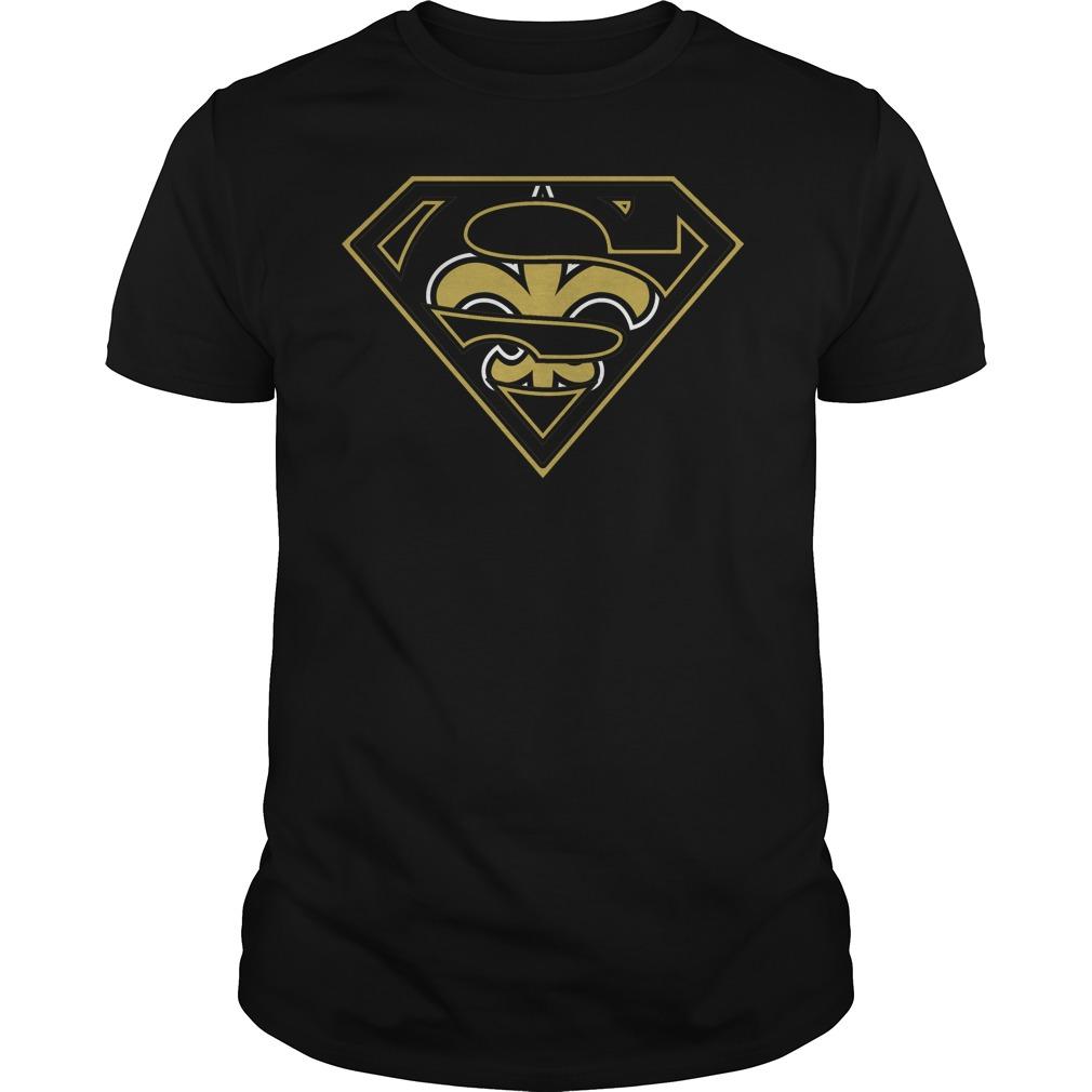 New orleans saints superman logo t shirt buy t shirts for T shirt printing new orleans