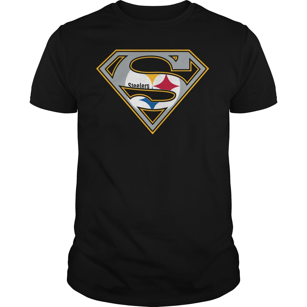 Pittsburgh steelers superman logo t shirt buy t shirts for Where to order shirts with logos
