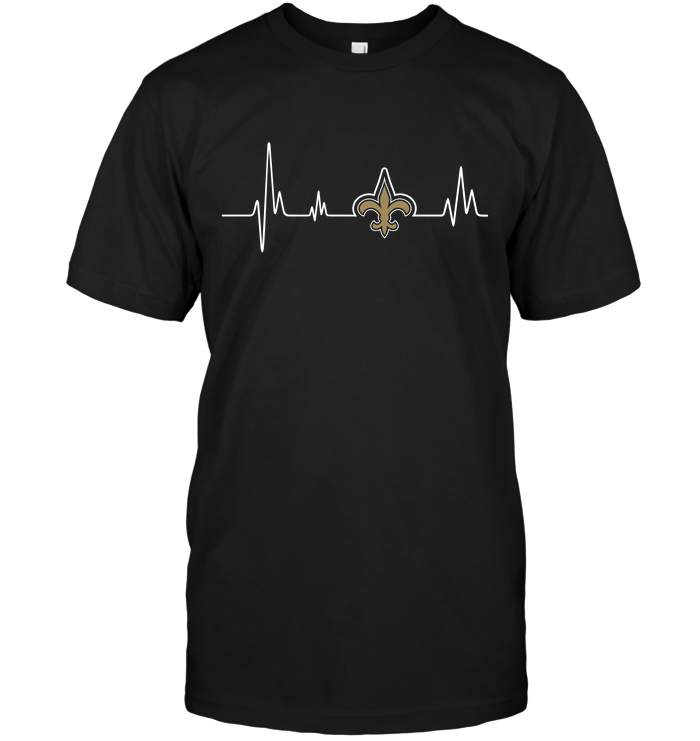 New orleans saints heartbeat t shirt buy t shirts for Shirt printing new orleans
