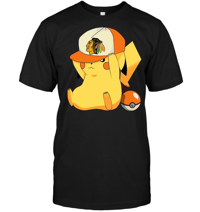 Chicago Blackhawks Pikachu Pokemon