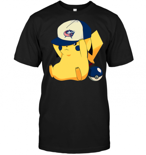 Columbus Blue Jackets Pikachu Pokemon