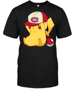 Montreal Canadians Pikachu Pokemon