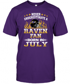 Never Underestimate A Raven Fan Born In July