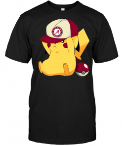 Alabama Crimson Tide Pikachu Pokemon
