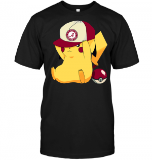 Alabama Crimson Tide Pikachu Pokemon