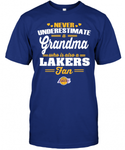 Never Underestimate A Grandma Who Is Also A Lakers Fan