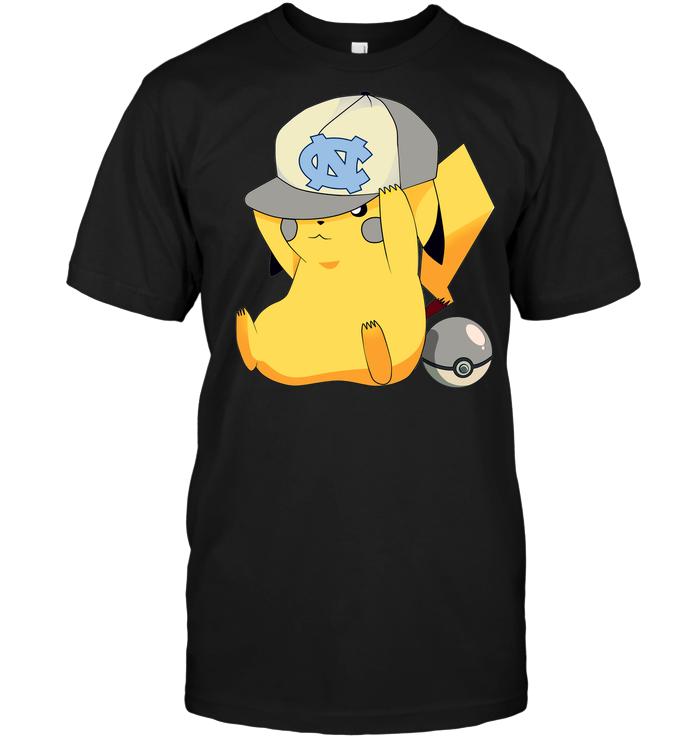 North Carolina Tar Heels Pikachu Pokemon