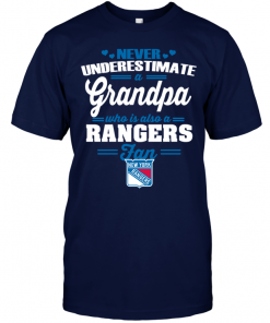 Never Underestimate A Grandpa Who Is Also A New York Rangers Fan