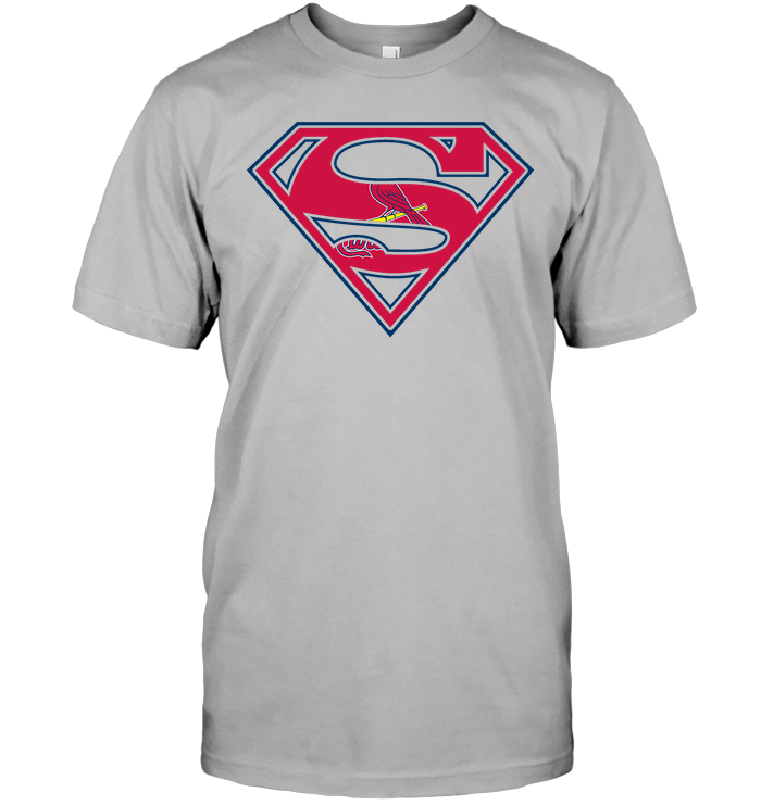 Superman st louis cardinals t shirt buy t shirts for St louis t shirt printing