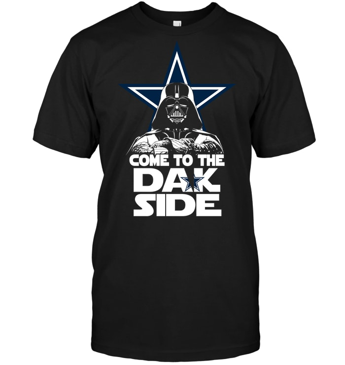 Dallas cowboys come to the dak side dark vader t shirt for Dallas cowboys fishing shirt