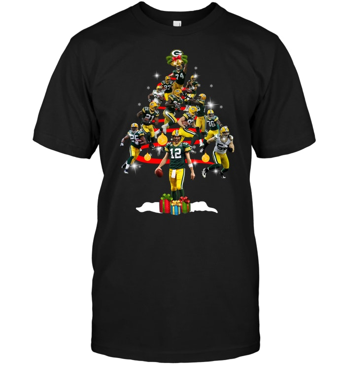Green Bay Packers  Players Christmas Tree T-Shirt - Buy T-Shirts ... 9443309242d8