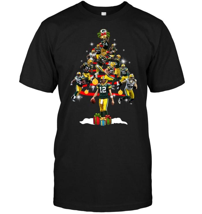 Green Bay Packers  Players Christmas Tree T-Shirt - Buy T-Shirts ... 9443309242d8