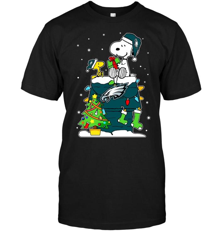 new style 32688 ad1f0 Philadelphia Eagles: Snoopy & Woodstock Christmas
