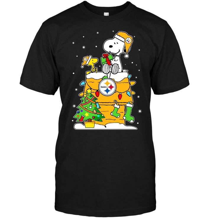 Pittsburgh Steelers Snoopy Amp Woodstock Christmas T Shirt