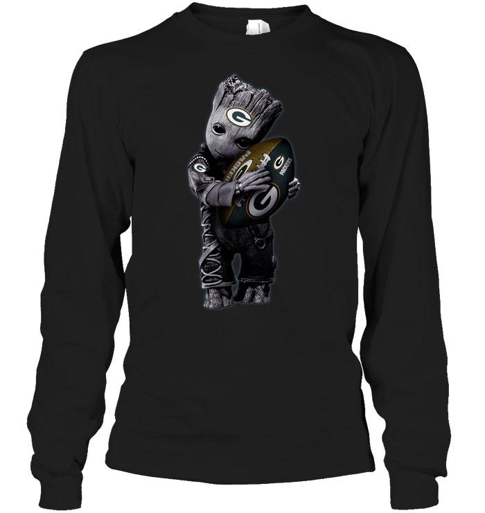 Baby Groot Hug Green Bay Packers Football NFL T-Shirt - Buy T-Shirts ... f098acf17