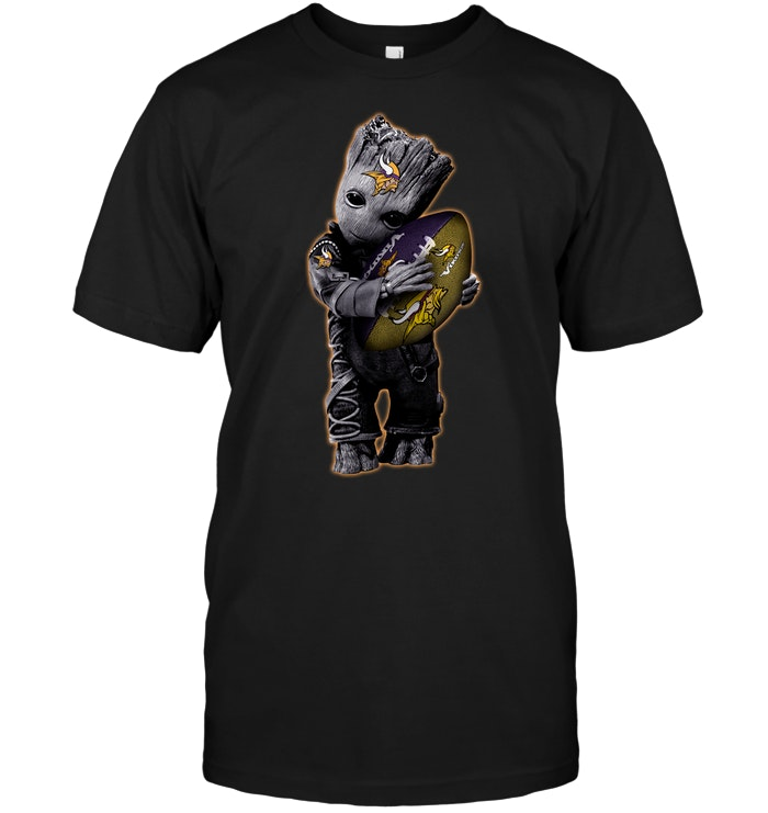 Baby Groot Hug Minnesota Vikings Football Nfl T Shirt