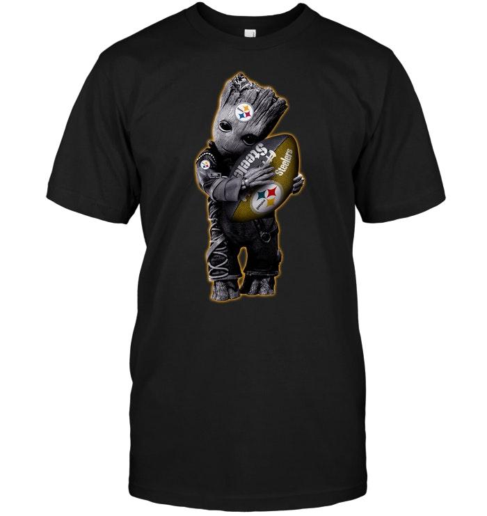 Baby Groot Hug Pittsburgh Steelers Football Nfl T Shirt