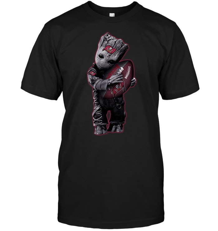 83ef110d6 Baby Groot Hug Tampa Bay Buccaneers Football NFL T-Shirt - Buy T-Shirts