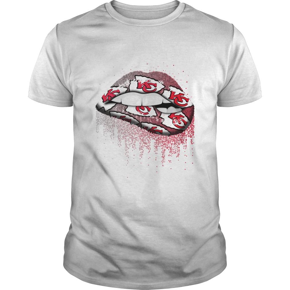 Nfl Kansas City Chiefs Lips T Shirt Buy T Shirts Teenavisport