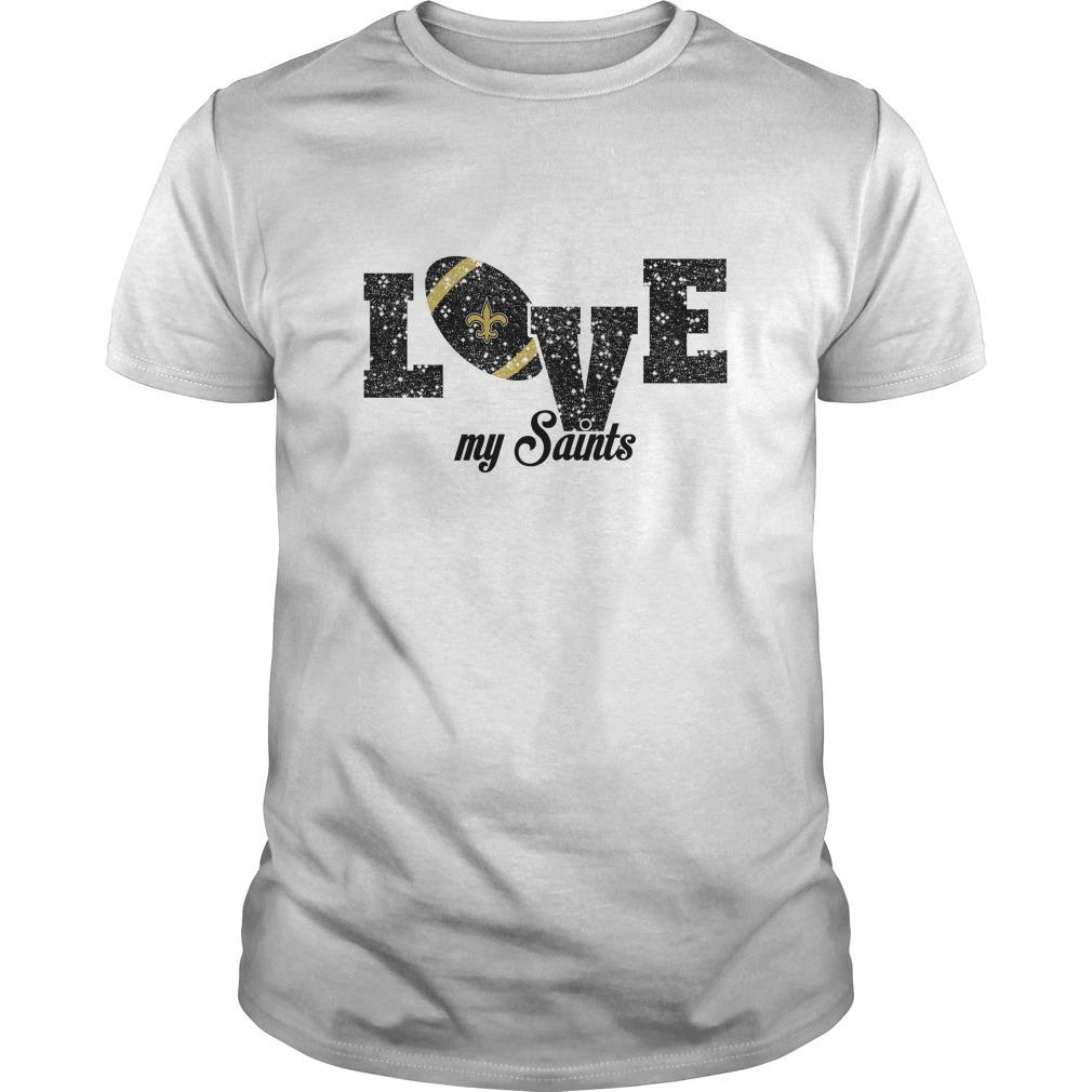 NFL New Orleans Saints Love My New Orleans Saints Football T-Shirt - Buy T- Shirts  14651d281